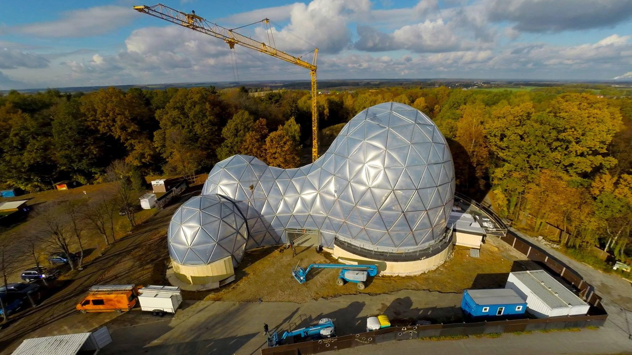 """3. November 2016: Richtfest – Luftaufnahme """"Rohbau"""""""