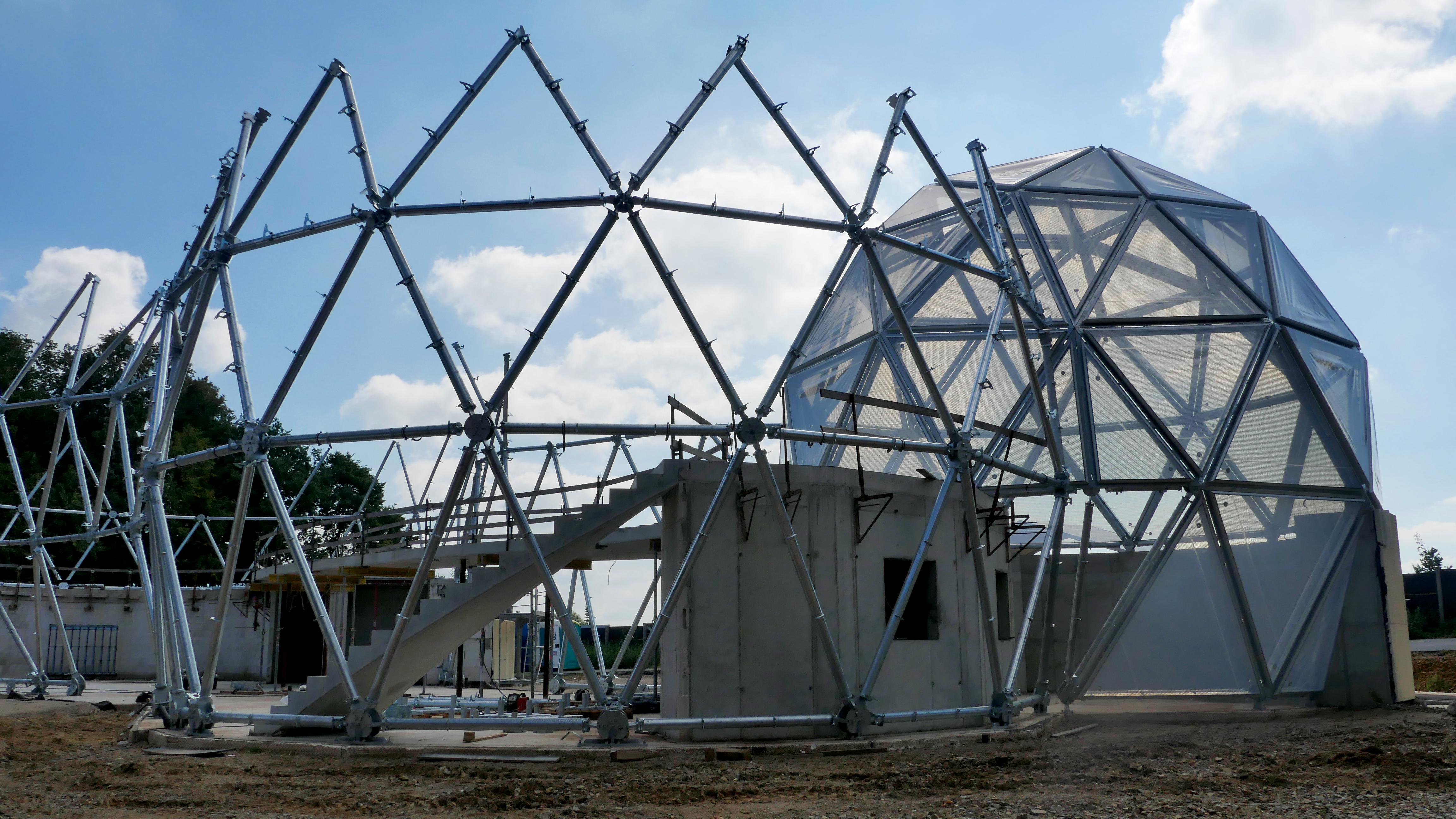 24. August 2016: Fertigstellung der Stahlkonstruktion