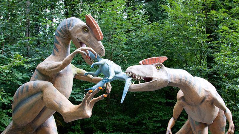 Dilophosaurus u. Scutellosaurus