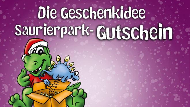 Dein Last-Minute-Geschenk: Ein Saurierpark-Gutschein!